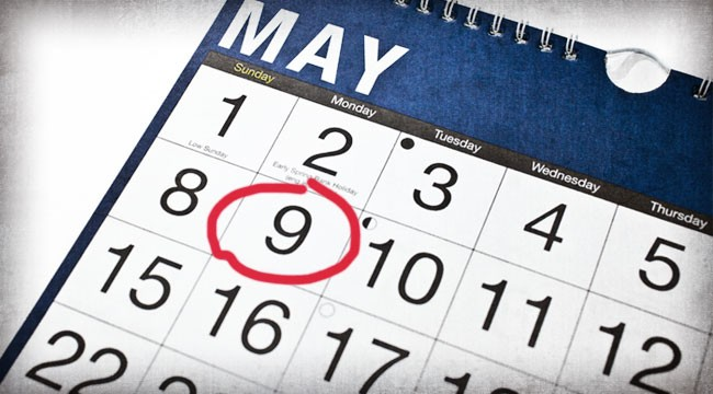 Circle May 9 on Your Calendar