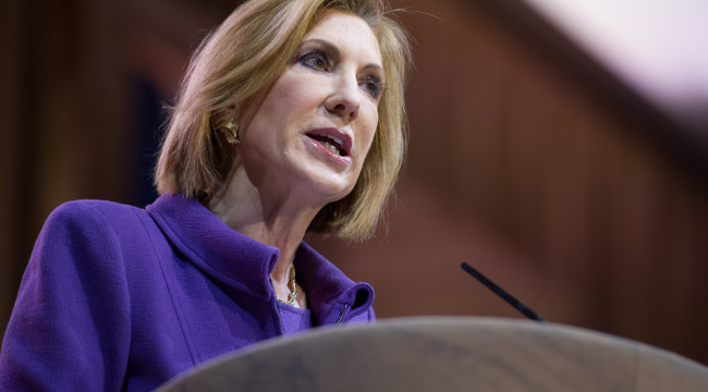 Clueless Carly - Crony Capitalist Warmonger With Flashcards