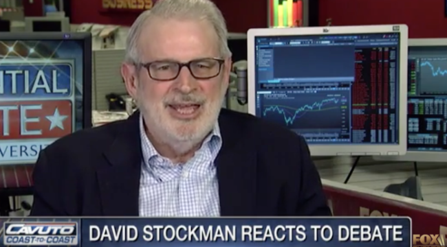 David Stockman Reacts to First Presidential Debate