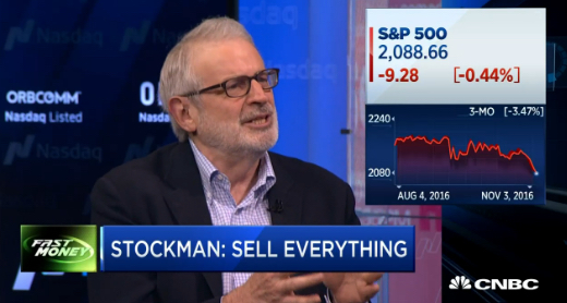 David Stockman: Trump, Clinton Could Mean 25% Market Sell-Off