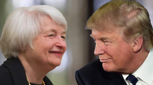 The Trump Bump vs. Gold vs. Yellen's Keynesian Analysis