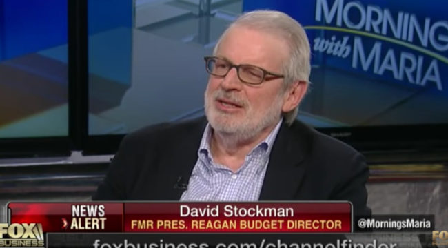 David Stockman: Trump Sitting On Ticking Fiscal Time Bomb