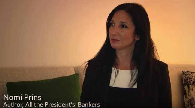 Nomi Prins: Big Bank Concentration and Counterparty Risk Expands