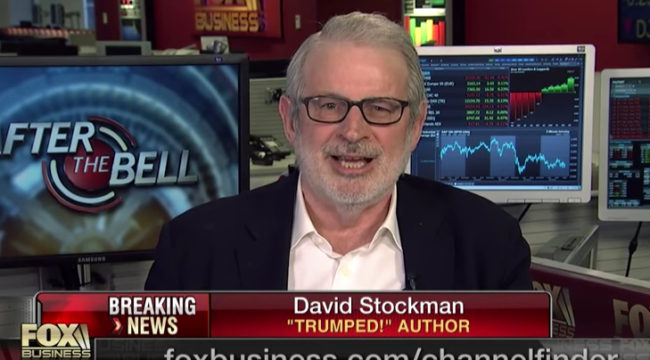 David Stockman: Trump Budget is Dead Before Arrival