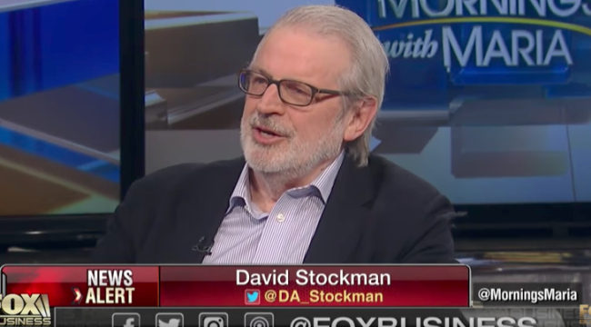 Stockman: Trump's Tax Plan Never Had a Chance