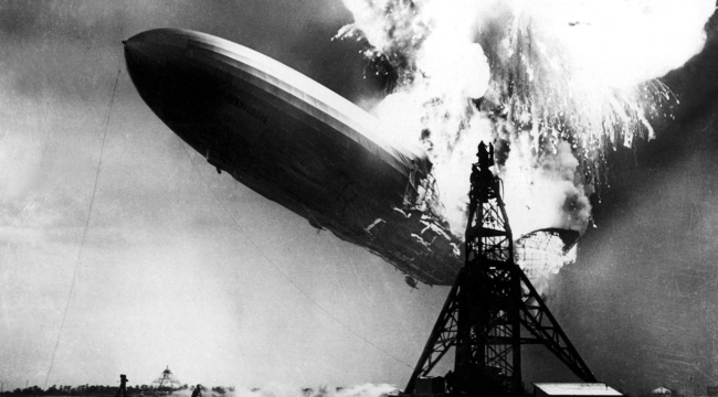 """Hindenburg"" Spotted Over Wall Street"